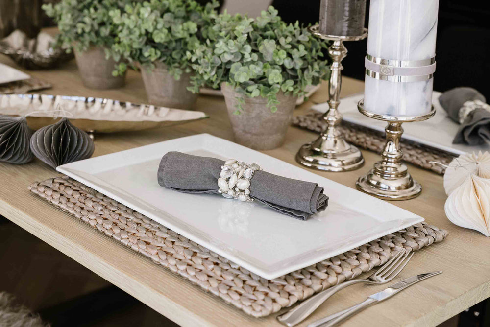 Safari Rectangular Placemat - Silver by India Jane