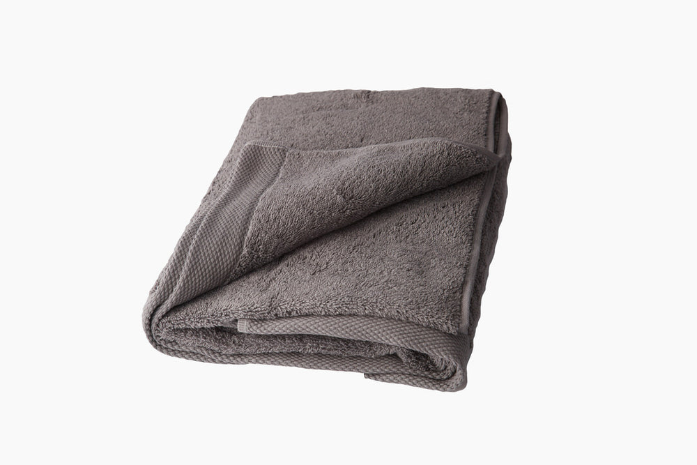 Classic Grey Bath Towels 100% Organic Cotton