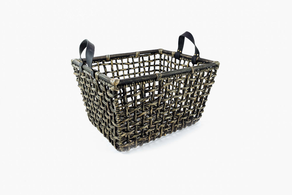 water hyacinth log basket