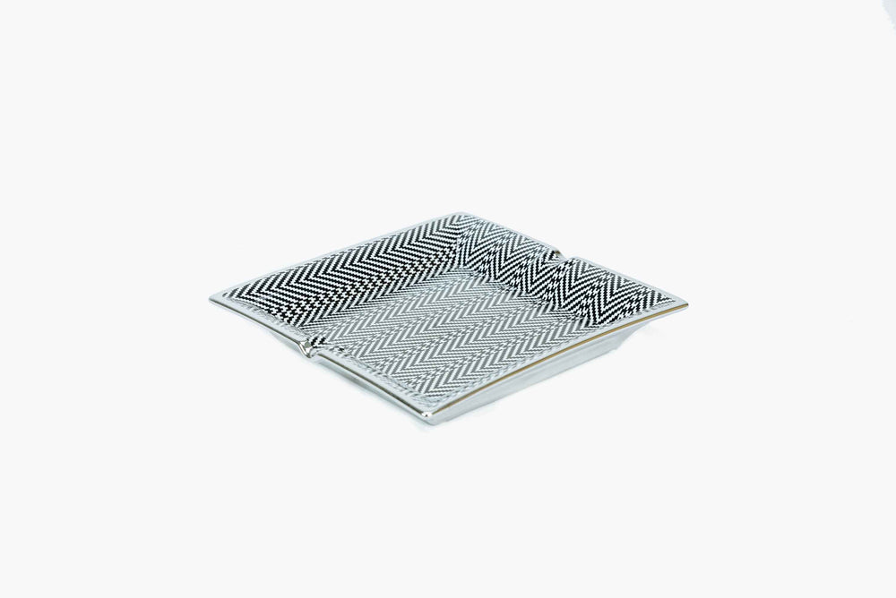 Eichholtz Herringbone Pattern Ceramic Tray
