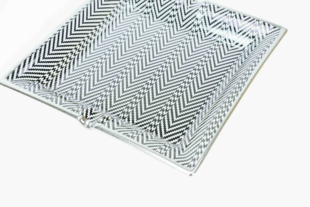 Herringbone Pattern Ceramic Tray