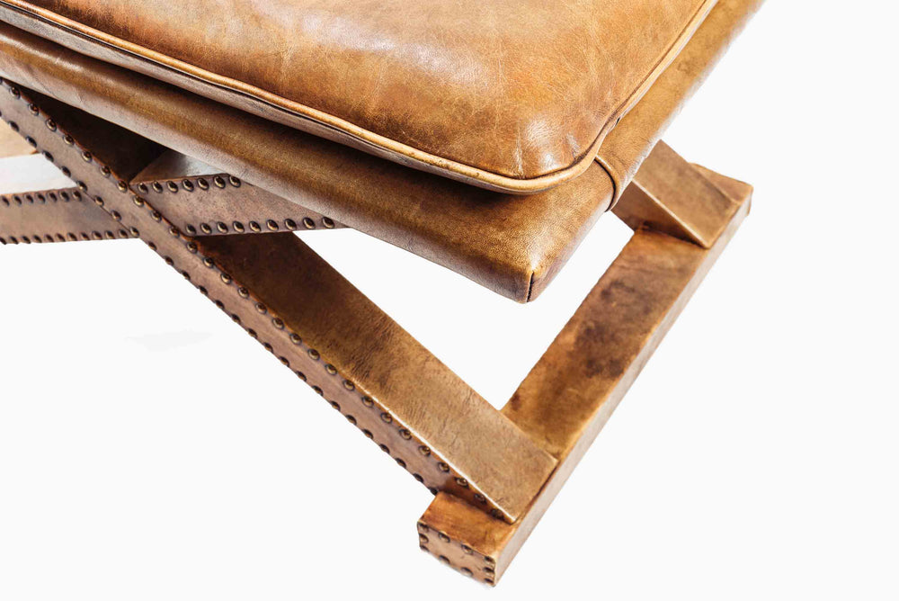 tobacco leather stool