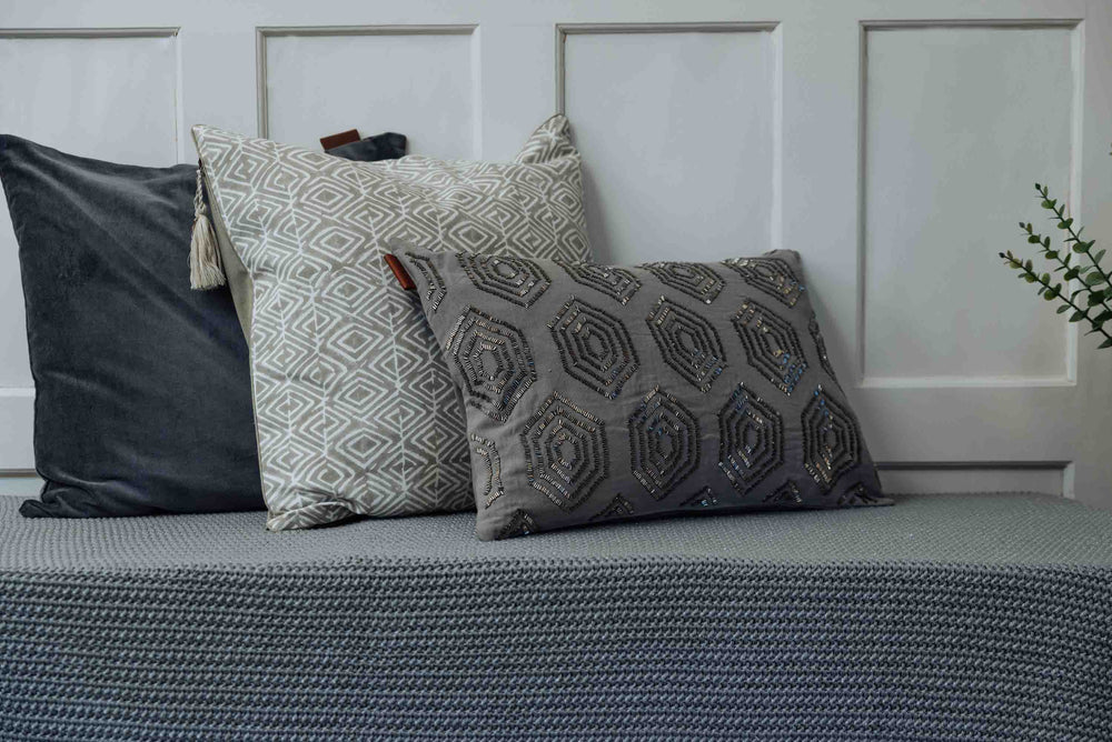 luxury grey cushion