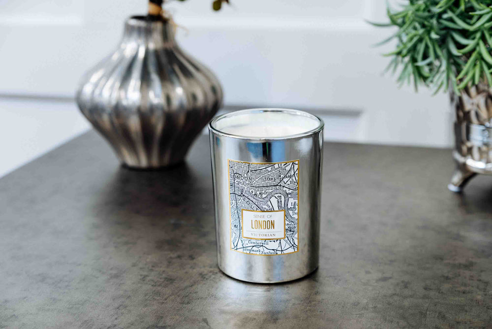 Victorian London Map Candle by On Interiors