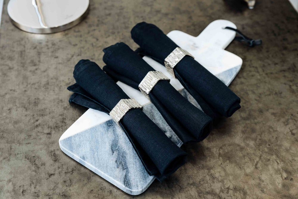 Silver Coloured Napkin Ring -  Croix by On Interiors