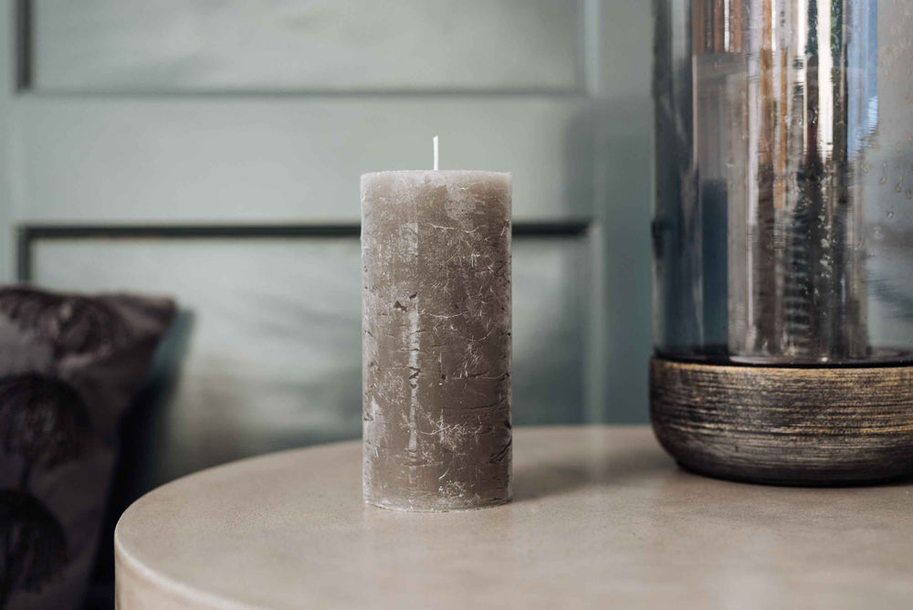 Rustic Grey Candle