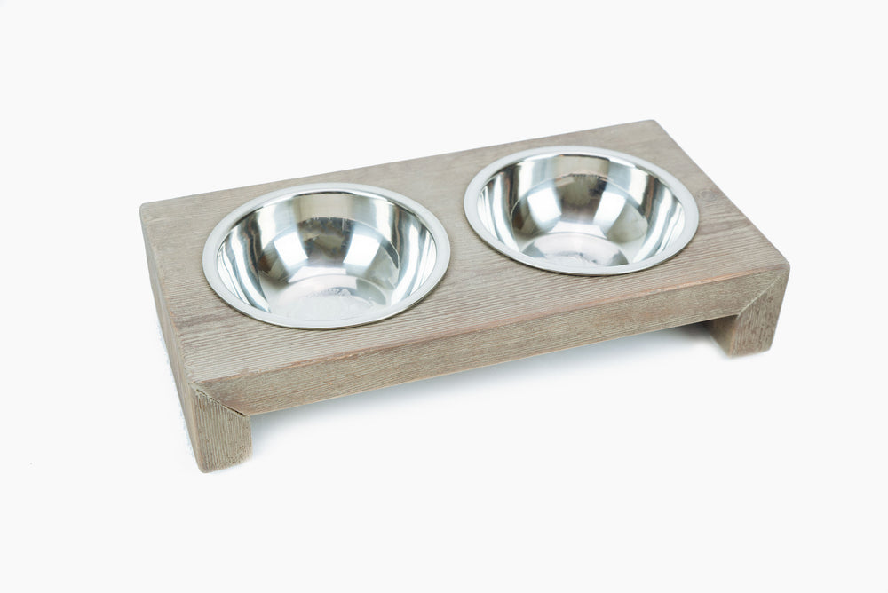 Lord Lou - Milano Double Pet Feeder - Burnt Oak
