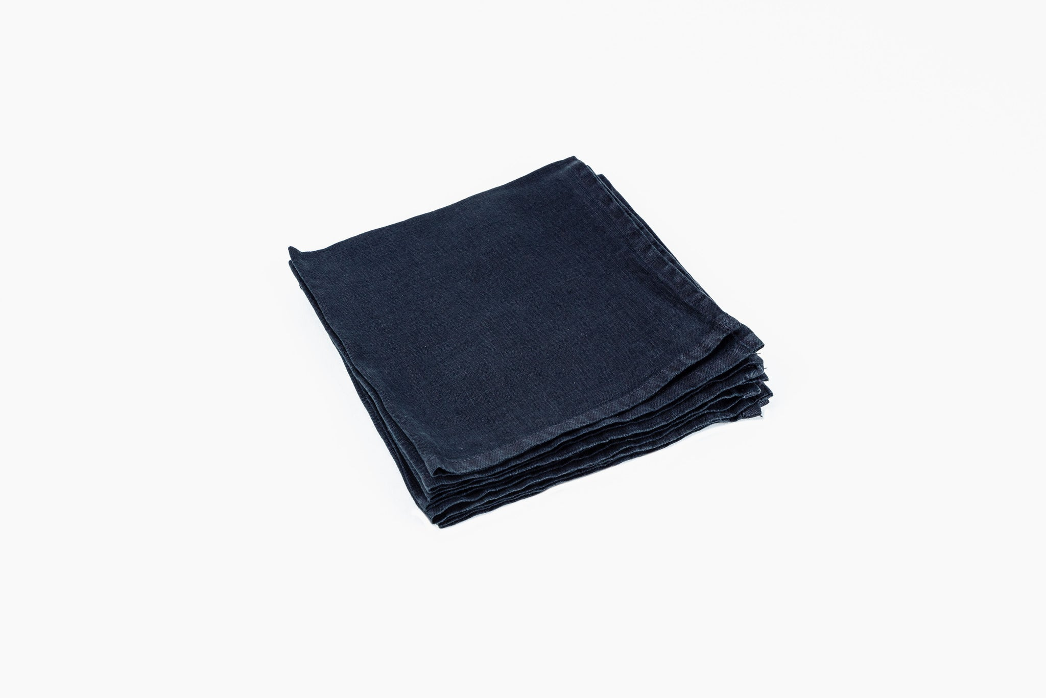Black Linen Napkin - Trapani by On Interiors