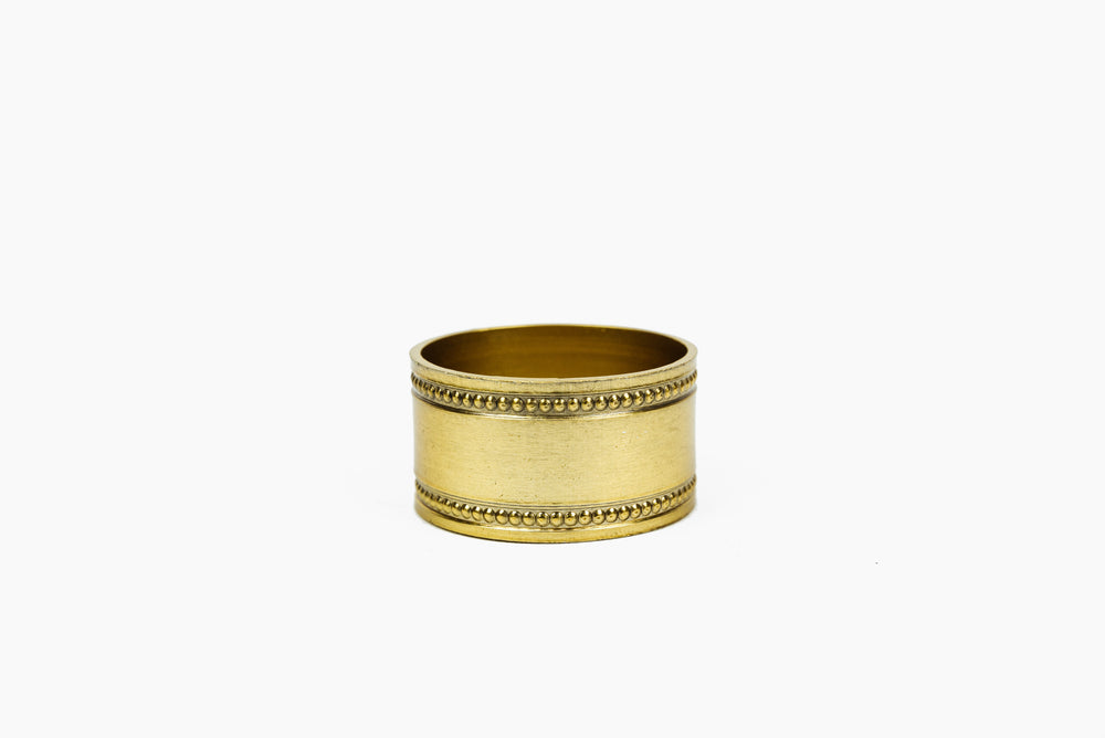 Brass Coloured Napkin Ring by On Interiors
