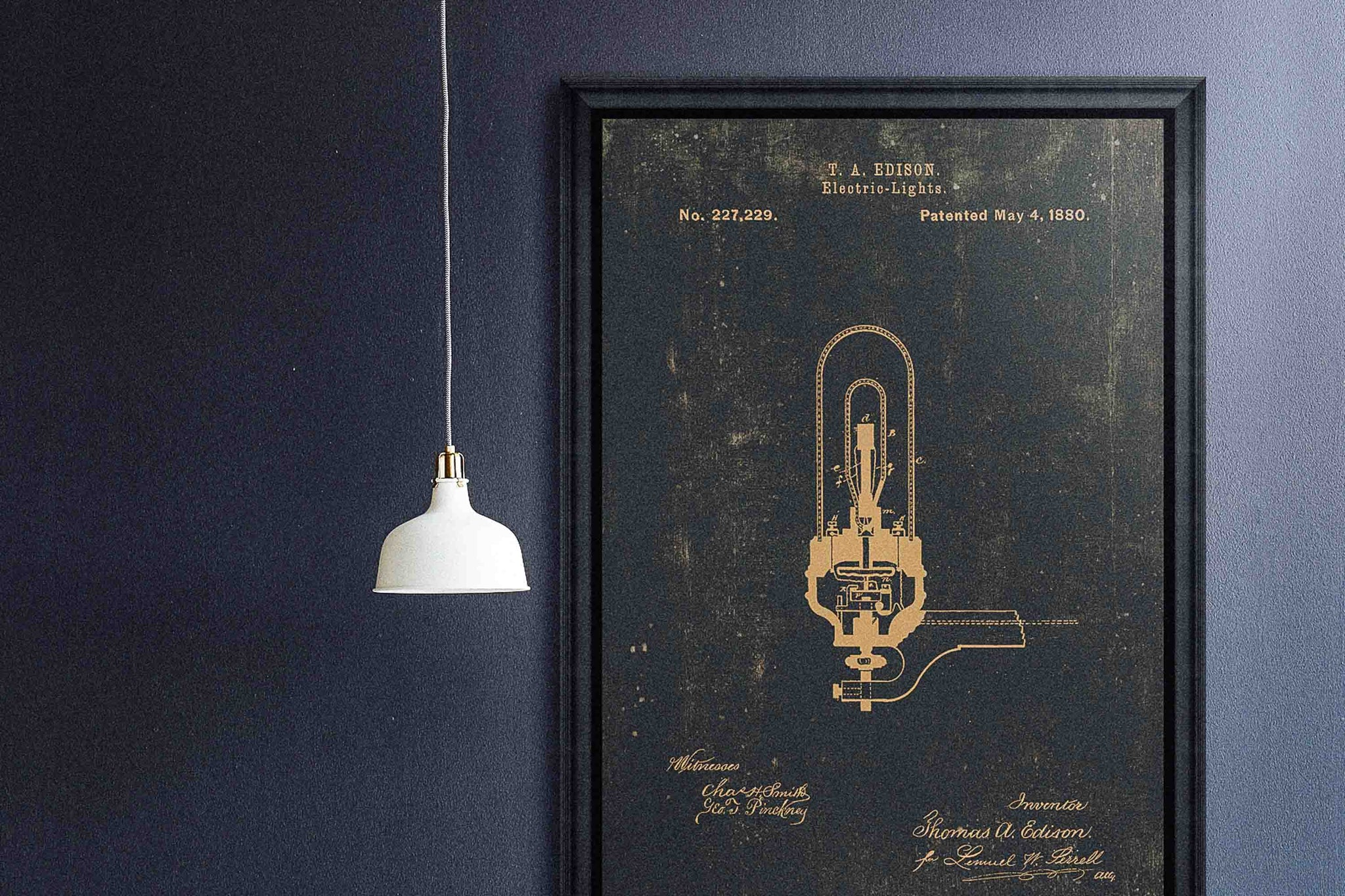 Edison Electric Light Print by Mind The Gap