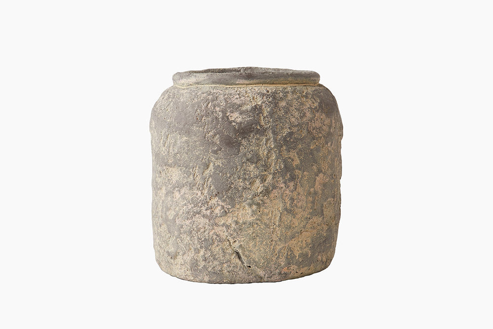 Reza Grey Cement Farmer Pot
