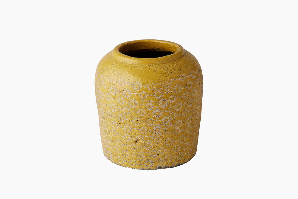 Mexxi Yellow Ceramic Farmer Pot