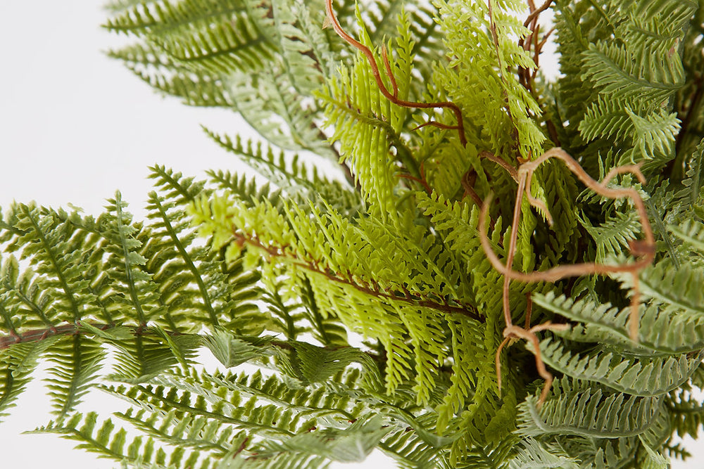 Artificial Leather Fern Bush