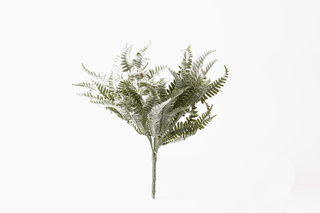 Artificial Green Flocked Fern Plant