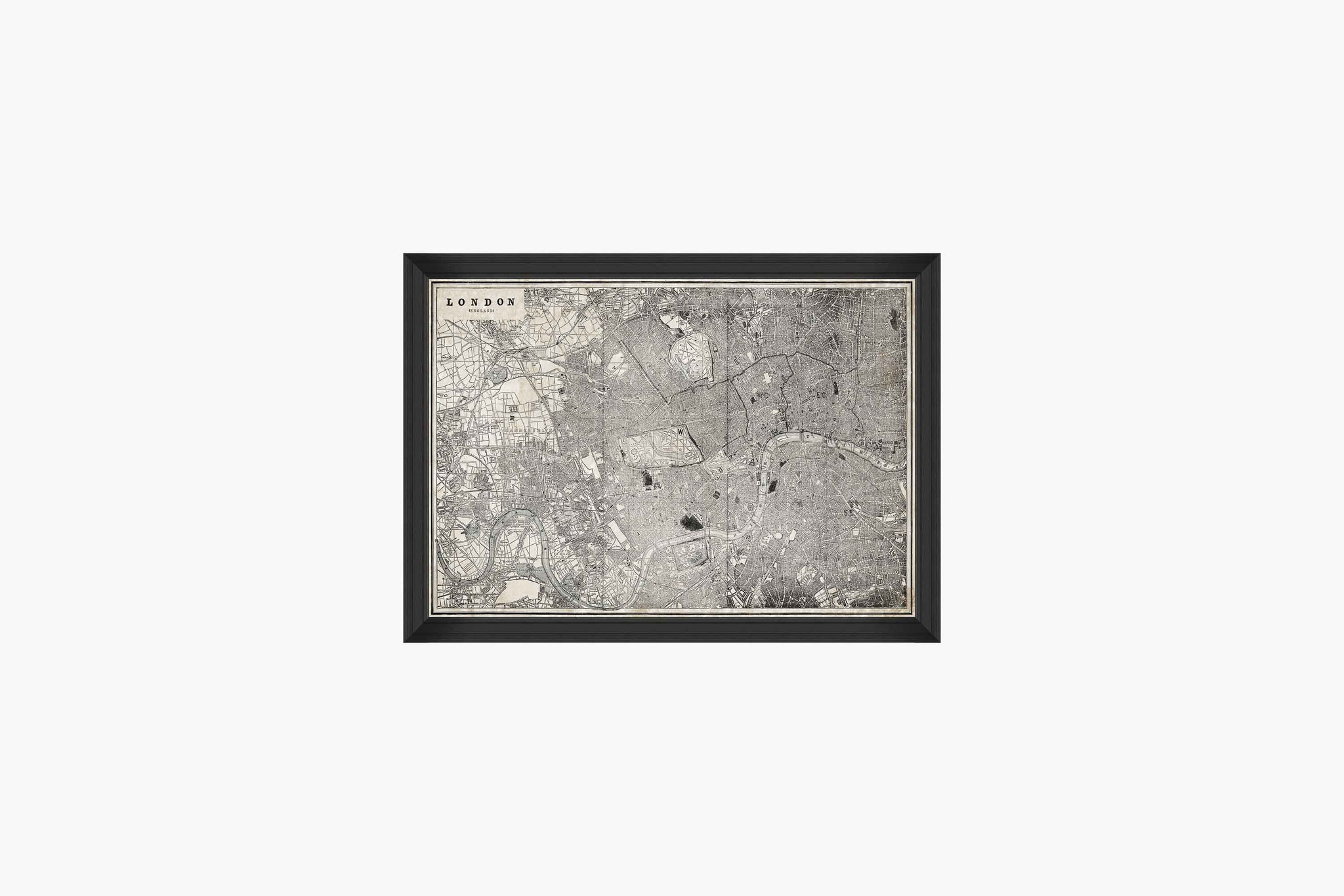 Vintage London Map Print by Mind The Gap