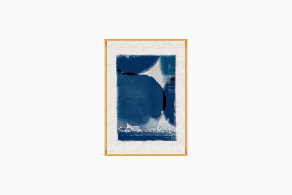 Indigo Abstract Print 2 by Mind The Gap