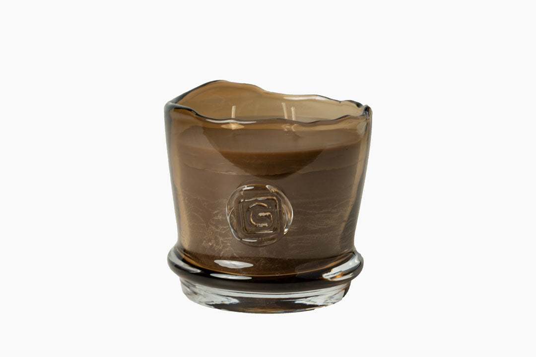 Patchouli Scented Candle in Topaz Glass