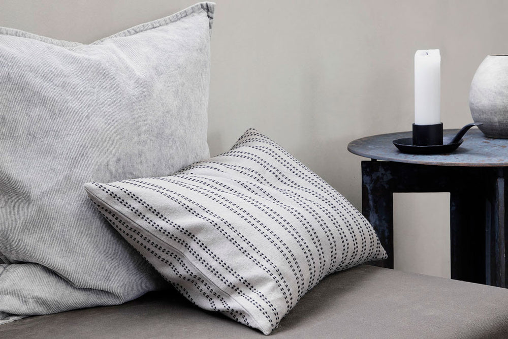 grey stripe cushion by house doctor