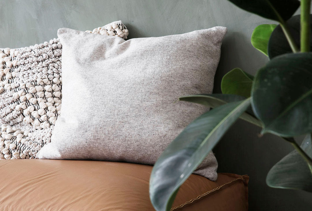 natural lambswool cushion