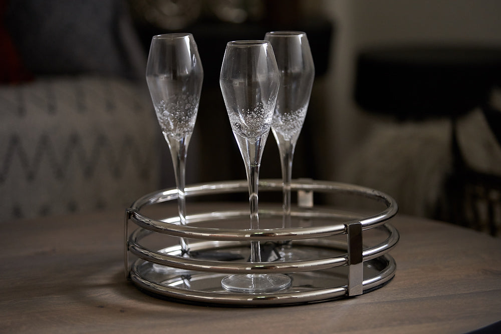 Champagne Glasses with Bubble Design by On Interiors