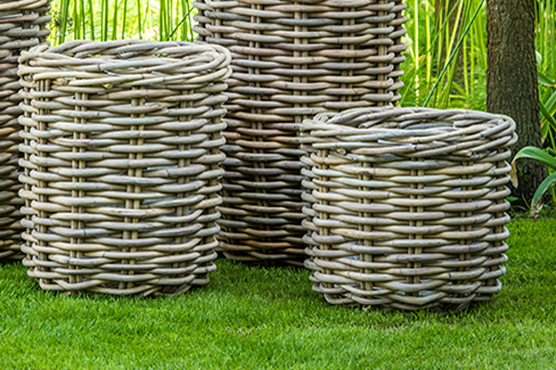 Palm Basket Natural Rattan