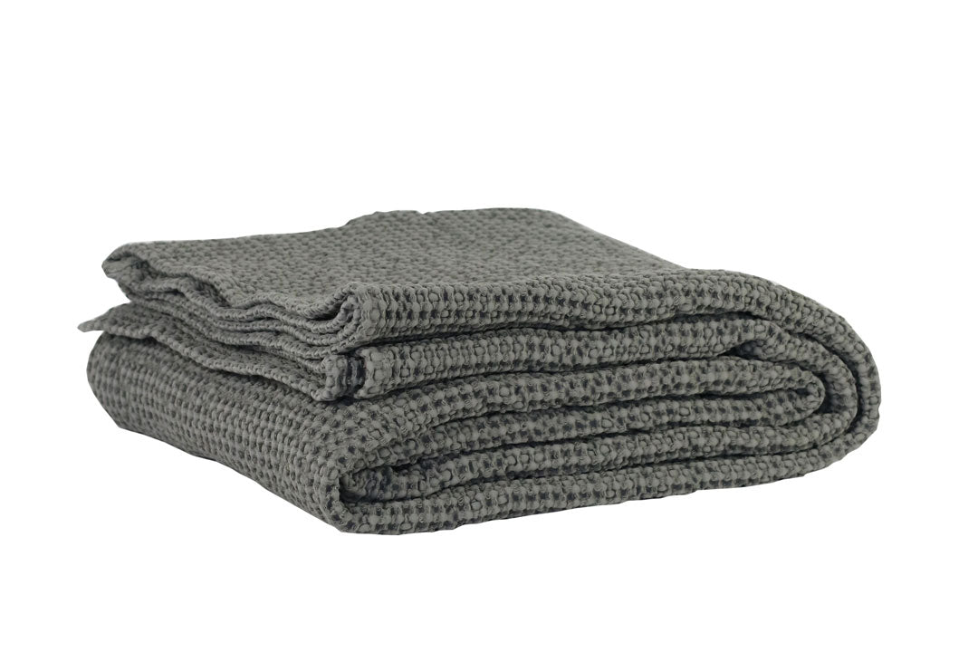 dove grey cotton throw