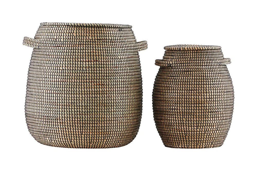 Seagrass natural/ black baskets