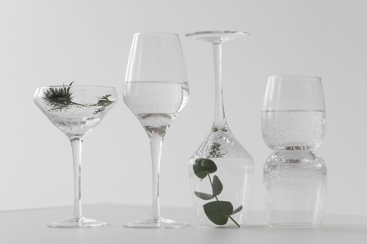 Water Glasses with Bubble Design by On Interior