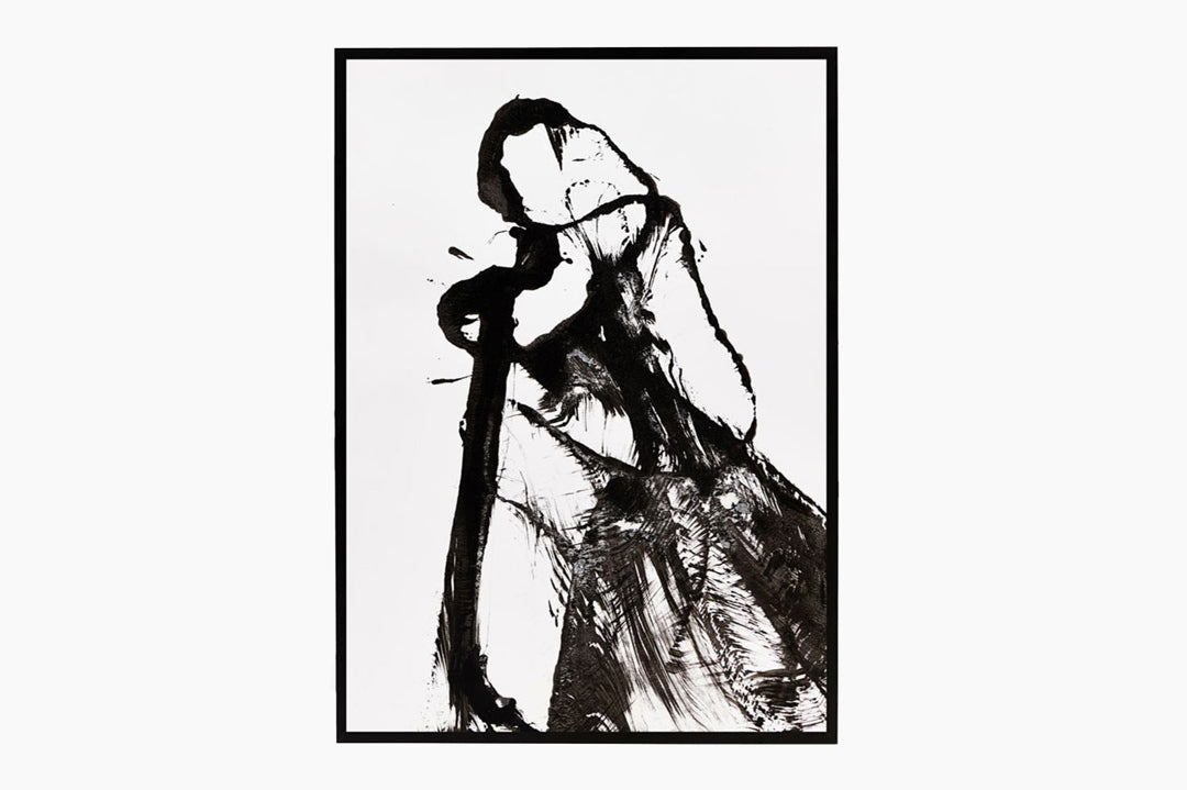 Black and White Abstract Print Opera by House Doctor