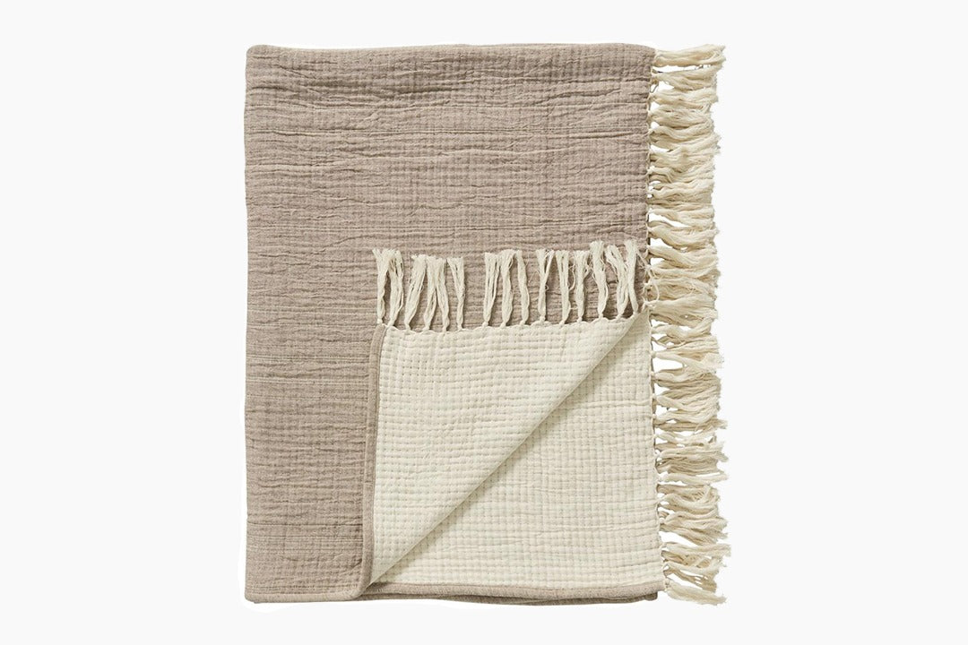 Rillia Throw - Natural by Lene Bjerre