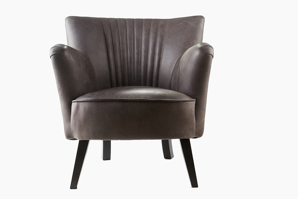 Ritz Club Chair in Vintage Grey Leather