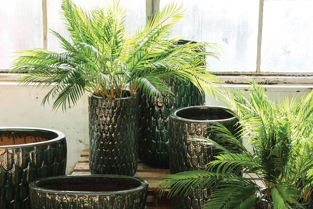 Green Palm Leaves Spray Artificial Plant