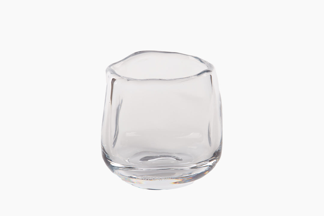 Clear Glass Hurricane Lantern - Punch Bowl Design
