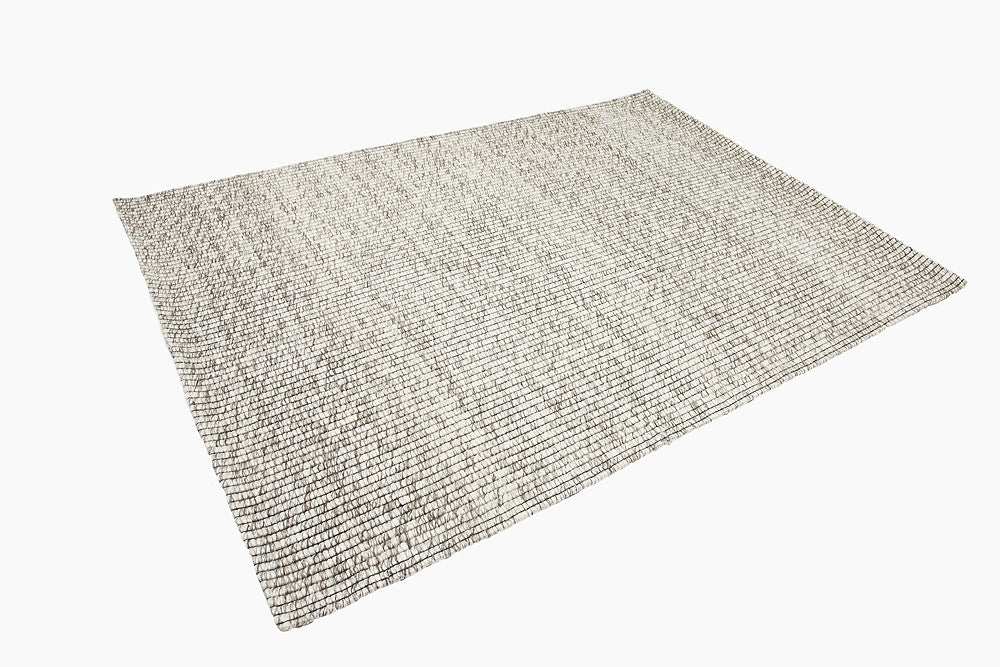 textured flat weave grey rug