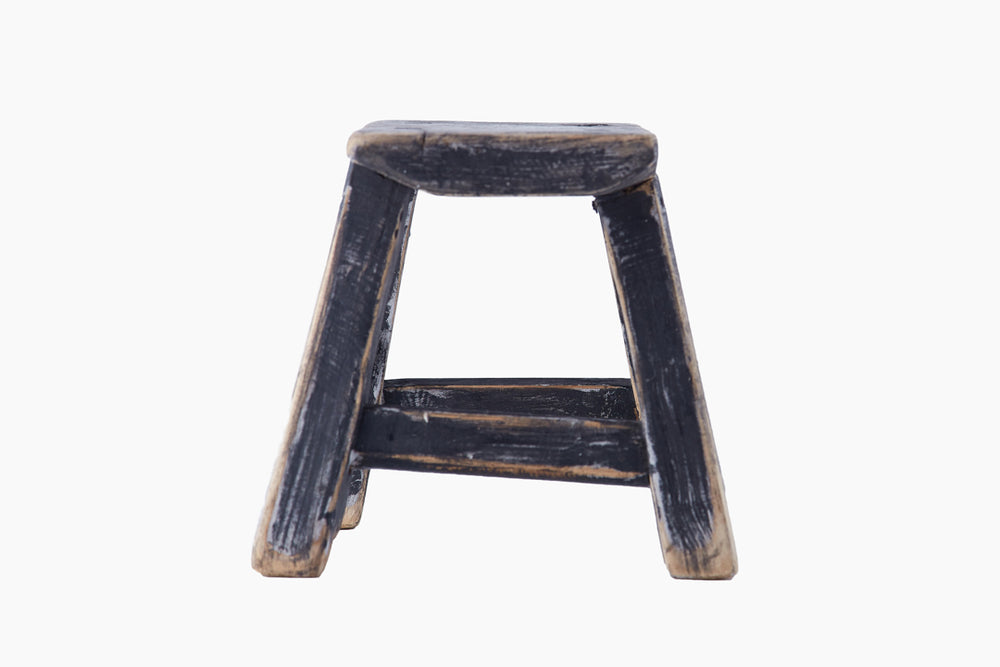 Small Wooden Vintage Stool by Snowdrops