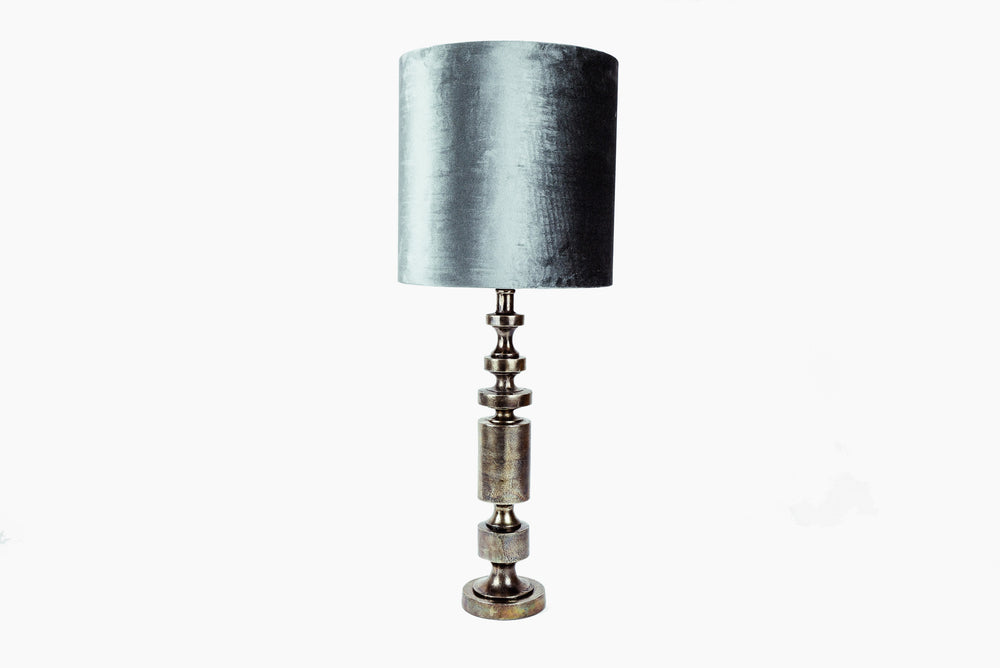 nickel side table lamp