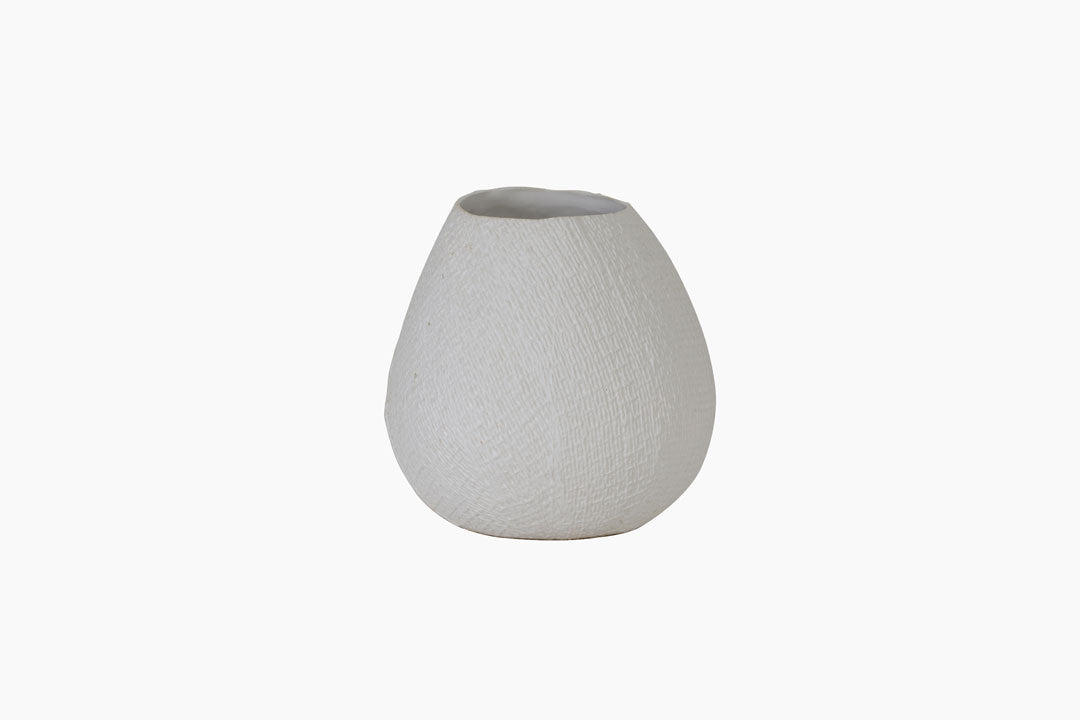 White Jake VAse by Light and Living