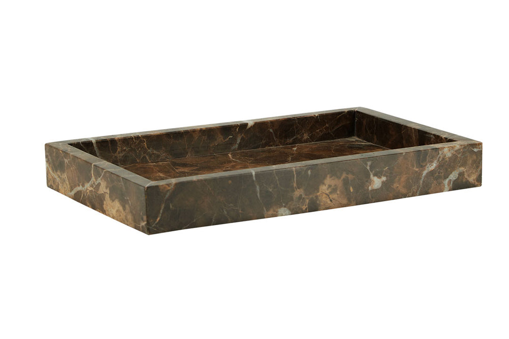 Toffee Brown Marble Accessories Tray