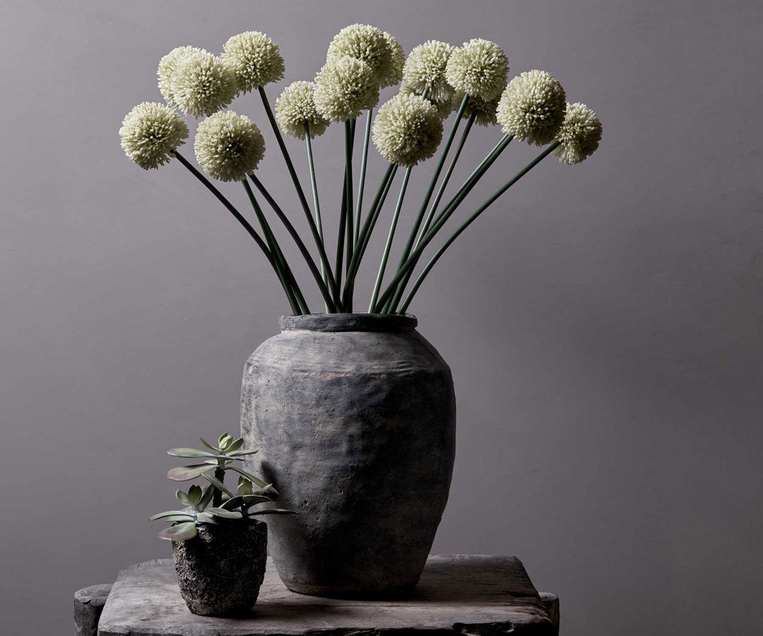 Artificial White Alliums by Abigail Ahern