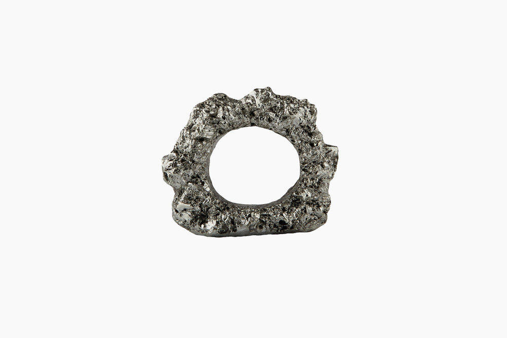 Mineral Napkin Ring Silver by On Interior
