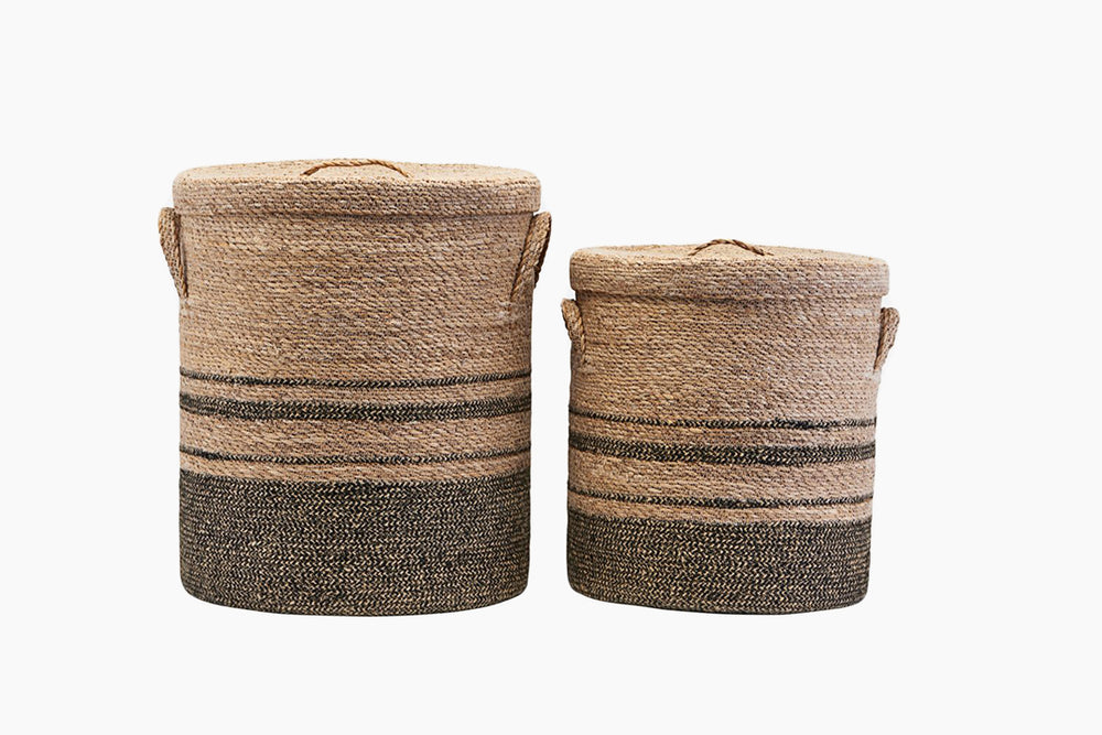 Seagrass & Jute Laundry Baskets by House Doctor