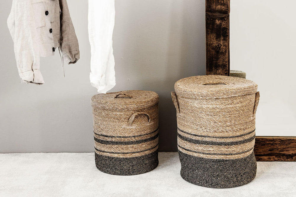 Seagrass laundry baskets by house doctor