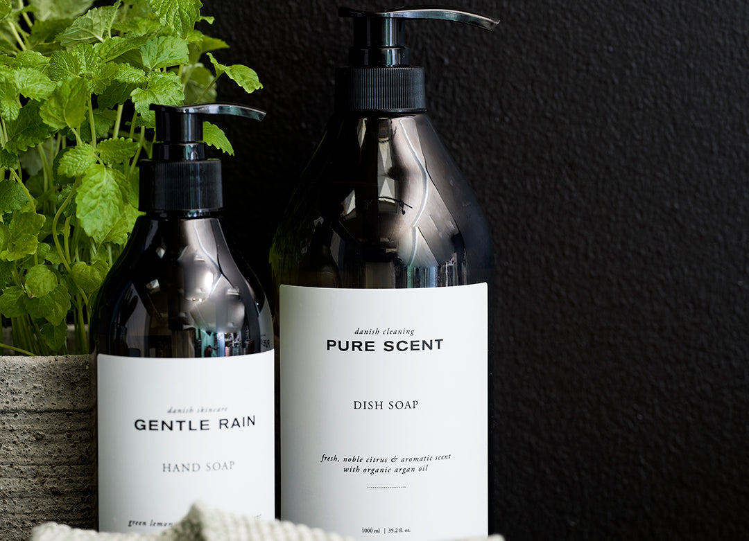 Pure Scent Dish Washing Liquid, apothecary styling
