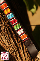 Thin horse brow band in bright traditional Maasai colors
