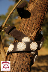 Circles Belt in White & Gold 1.5""