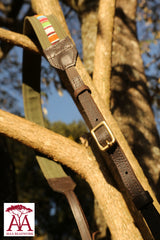 Camera and binocular straps - in Green Canvas and Traditional Beading design