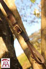 Camera and binocular straps - leather with brown beadwork