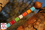 Beaded wooden Rungus in Traditional colors