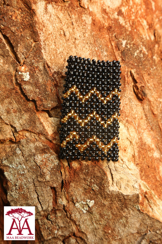 Elastic Bottle neck Decorations in black and gold