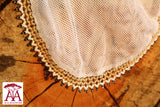 Beaded food net covers in gold white and black